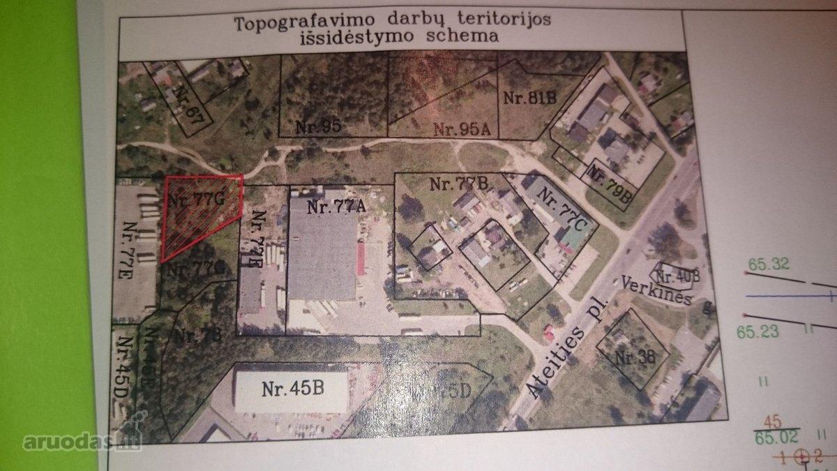 Kaunas, Dainava, Ateities pl., gamybinės, sandėliavimo, komercinės paskirties sklypas