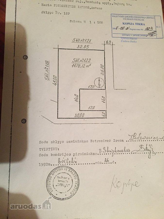 Vilniaus r. sav., Baronų k., Dainų 1-oji g., kolektyvinis sodas sklypas