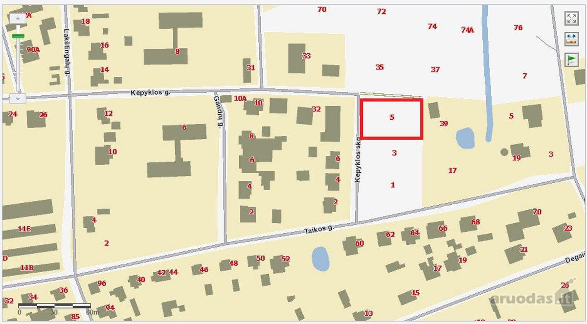 Telšių m., Kepyklos skg., namų valdos paskirties sklypas