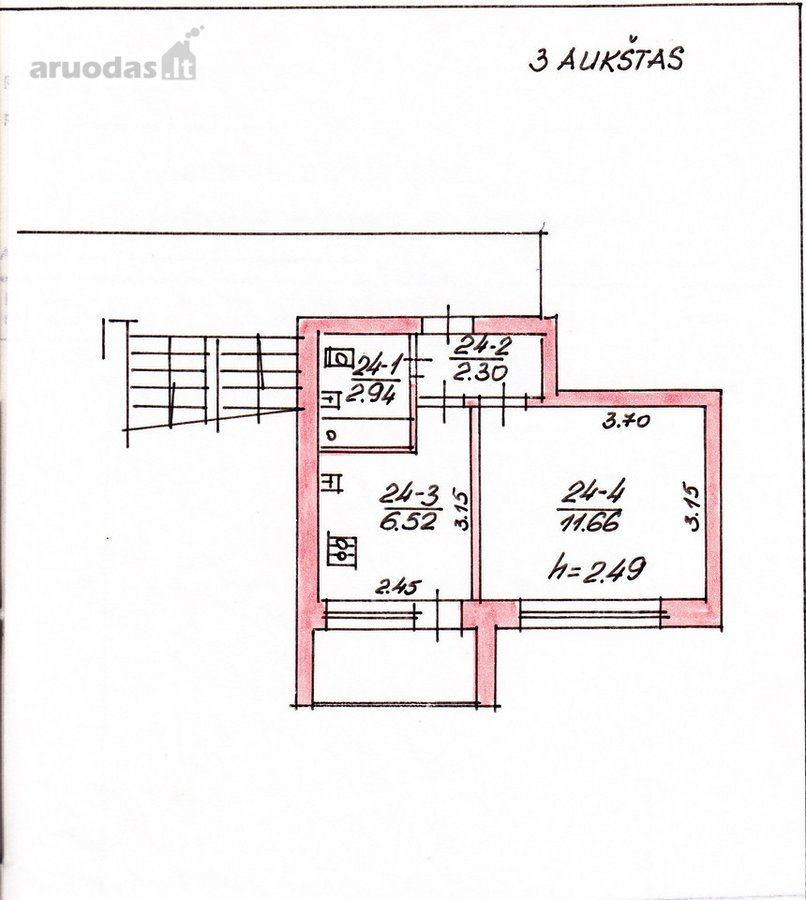 Druskininkų m., Ateities g., 1 kambario butas