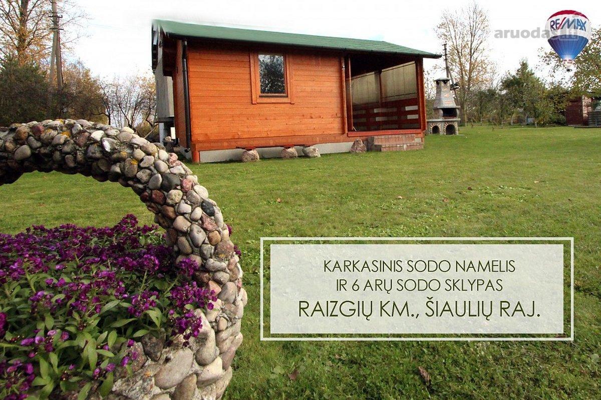 Šiaulių r. sav., Raizgių k., Serbentų g., karkasinis sodo namas