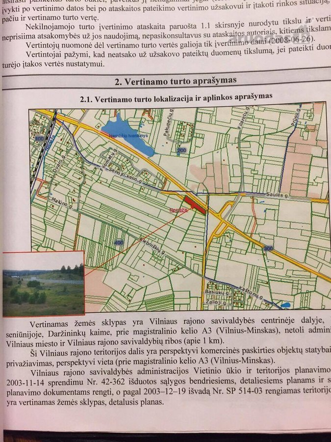 Vilniaus r. sav., Daržininkų k., žemės ūkio paskirties sklypas