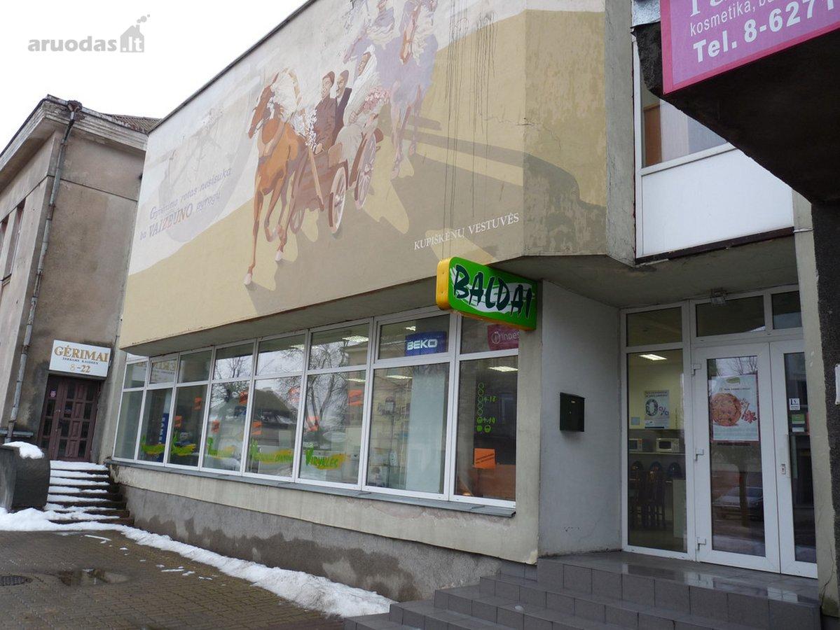 Kupiškio r. sav., Kupiškio m., Gedimino g., prekybinės paskirties patalpos