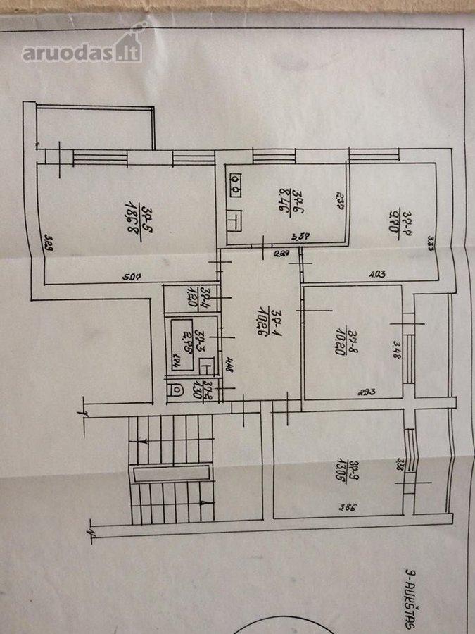 Panevėžys, Kniaudiškis, Kniaudiškių g., 4 kambarių butas