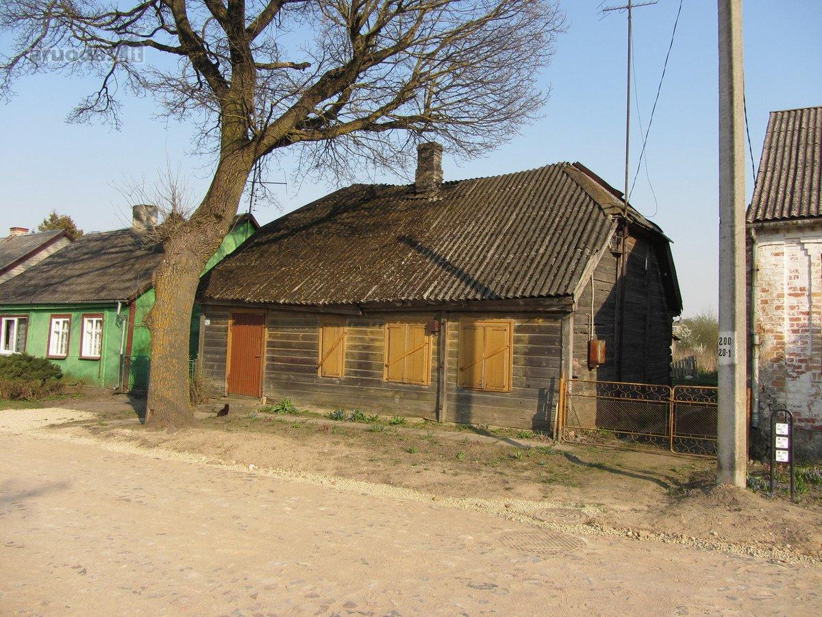 Joniškio r. sav., Žagarės m., Naujoji g., rąstinis namas