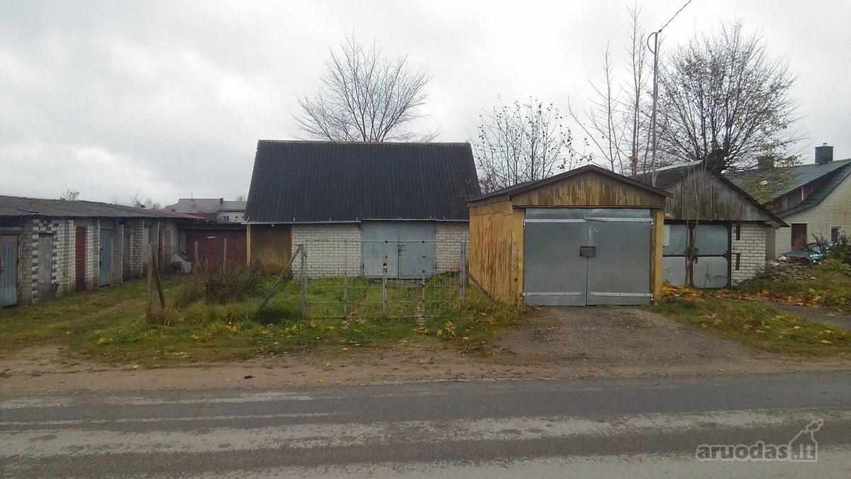 Šalčininkų r. sav., Šalčininkų m., Naujoji g., mūrinis garažas