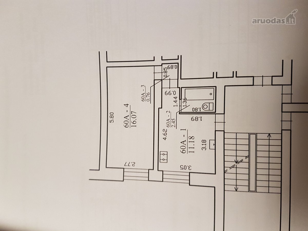 Kretingos m., Žalioji g., 1 комнаты квартира