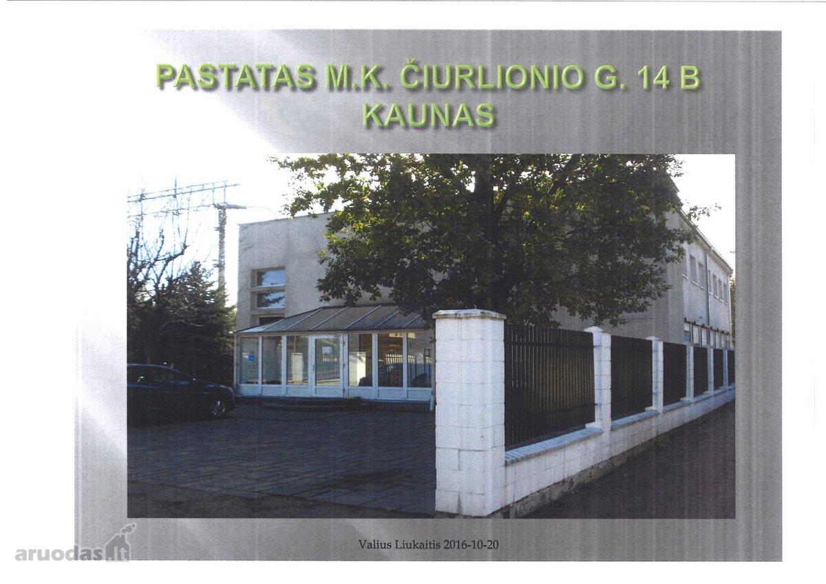Kaunas, Centras, M. K. Čiurlionio g., biuro, paslaugų, kita paskirties patalpos nuomai