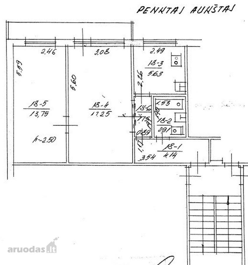 Klaipėda, Centras, Taikos pr., 2 kambarių butas