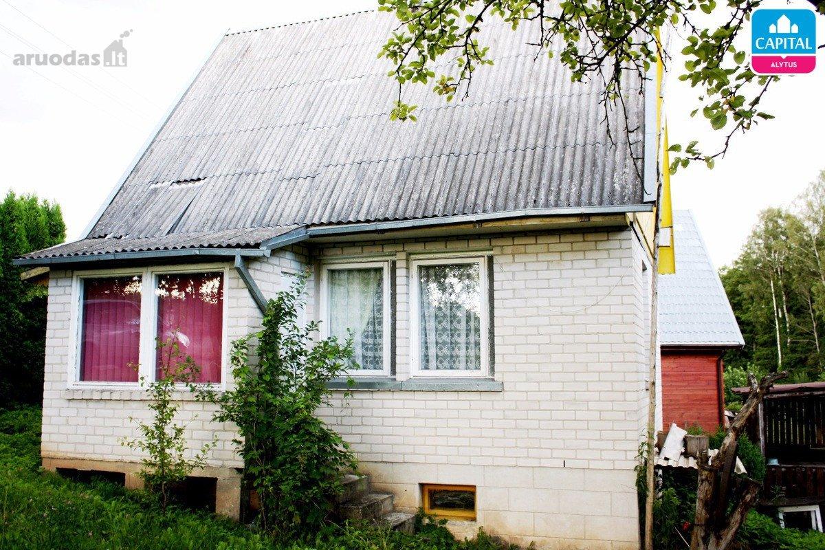 Alytaus r. sav., Jurkionių k., Lakštingalų g., mūrinis sodo namas