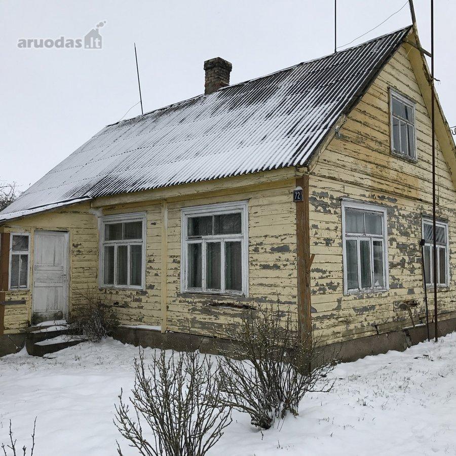Biržų r. sav., Vabalninko m., rąstinis namas