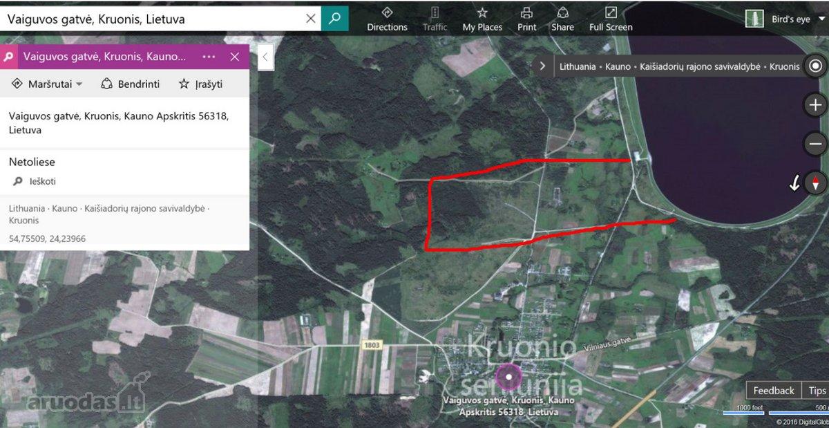 Kaišiadorių r. sav., Vaiguvos k., žemės ūkio, miškų ūkio paskirties sklypas