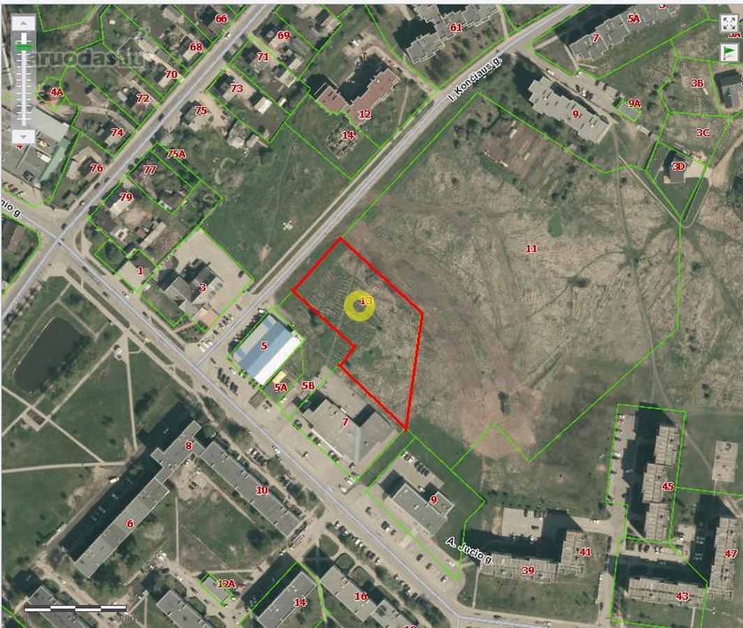 Plungės m., I. Končiaus g., namų valdos, daugiabučių statybos paskirties sklypas