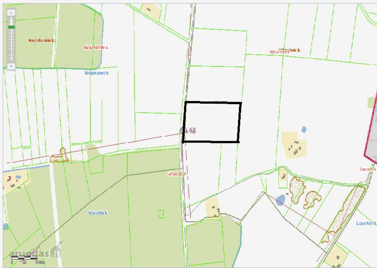 Vilkaviškio r. sav., Išlandžių k., agricultural purpose vacant land