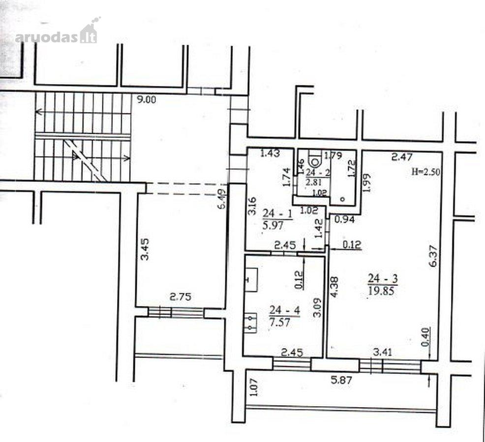 Klaipėda, Baltijos, Minijos g., 1 kambario butas