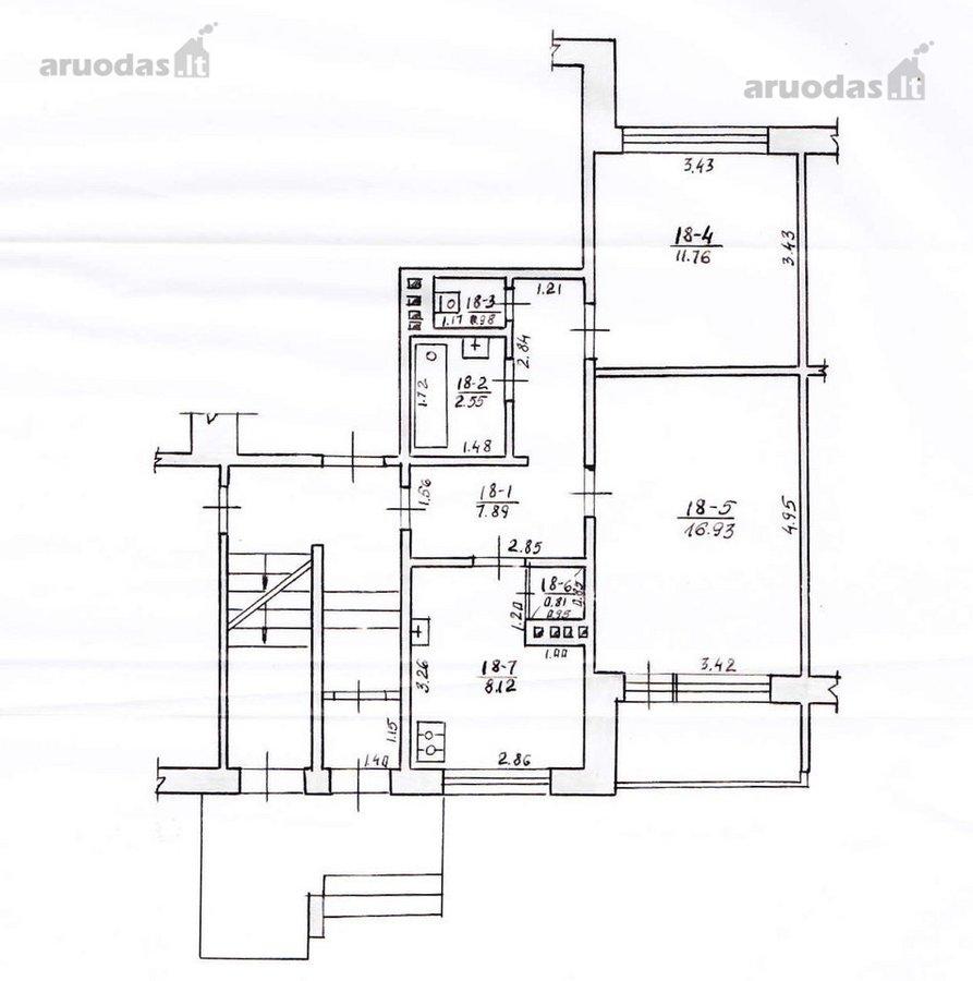 Kaunas, Kalniečiai, V. Landsbergio-Žemkalnio g., 2 kambarių butas