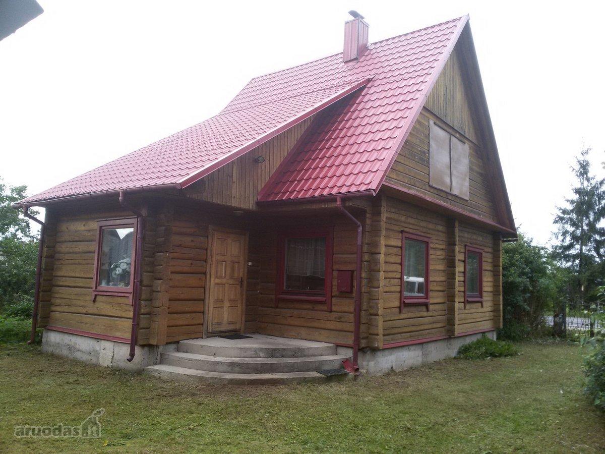 Vilniaus r. sav., Lavoriškių k., Vilniaus g., medinis namas