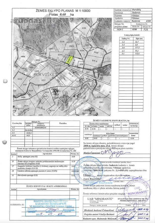 Vilniaus r. sav., Sudervės k., žemės ūkio paskirties sklypas