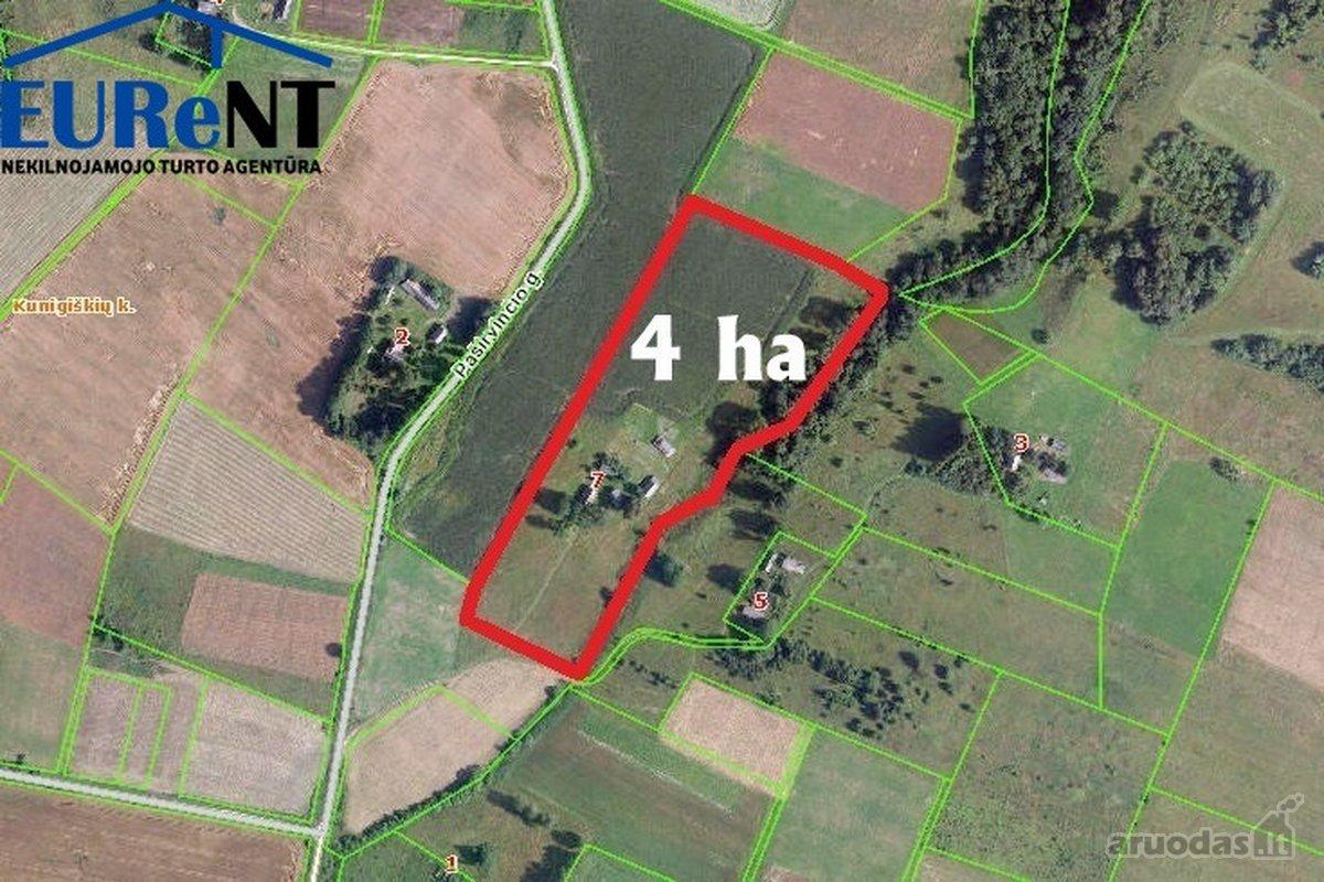 Jonavos r. sav., Kunigiškių k., Paširvinčio g., žemės ūkio paskirties sklypas