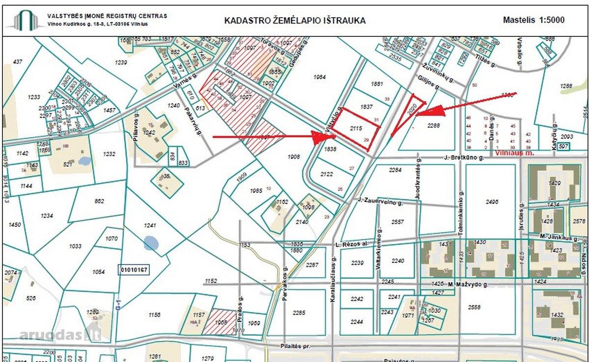 Vilnius, Pilaitė, Karaliaučiaus g., daugiabučių statybos paskirties sklypas