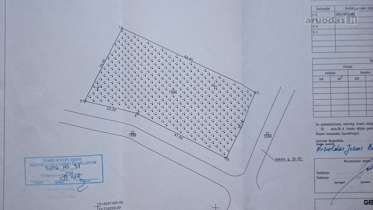 Palanga, Vakaro g., daugiabučių statybos paskirties sklypas