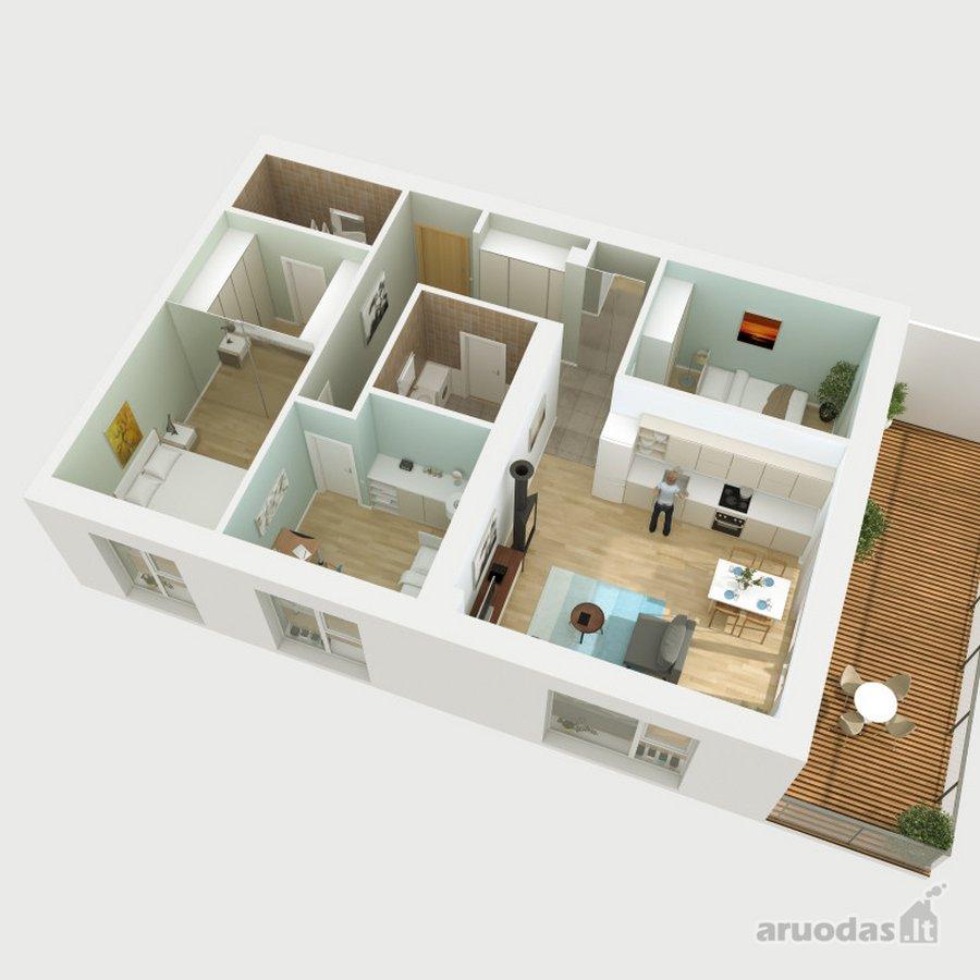 Vilnius, Antakalnis, Nemenčinės pl., 4 kambarių butas