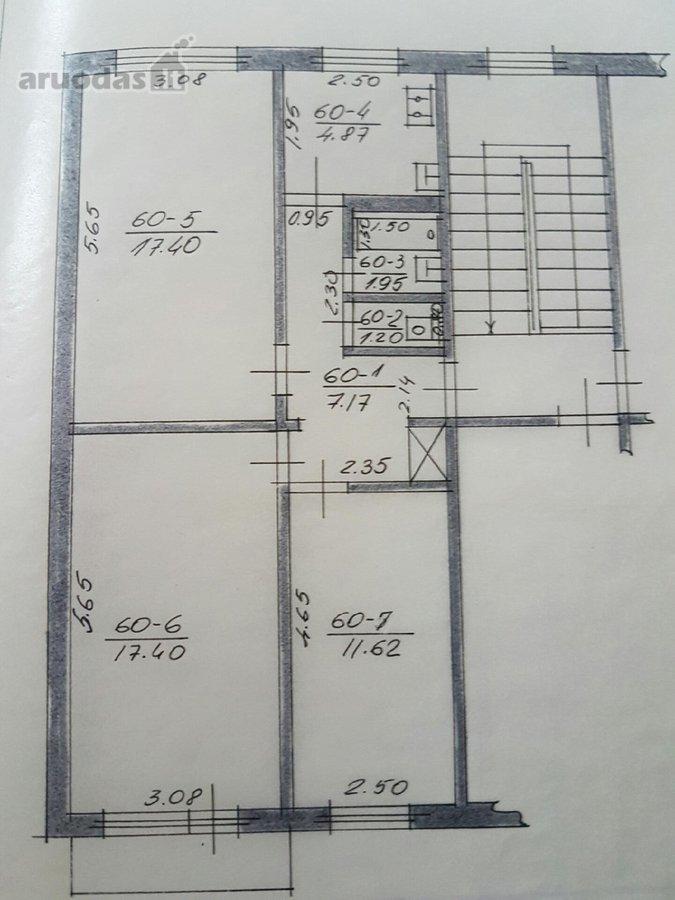 Kaunas, Dainava, Partizanų g., 3 kambarių butas