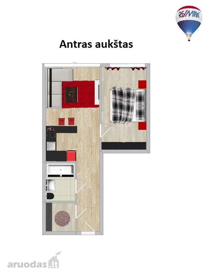 Panevėžys, Centras, A. Jakšto g., 2 kambarių butas
