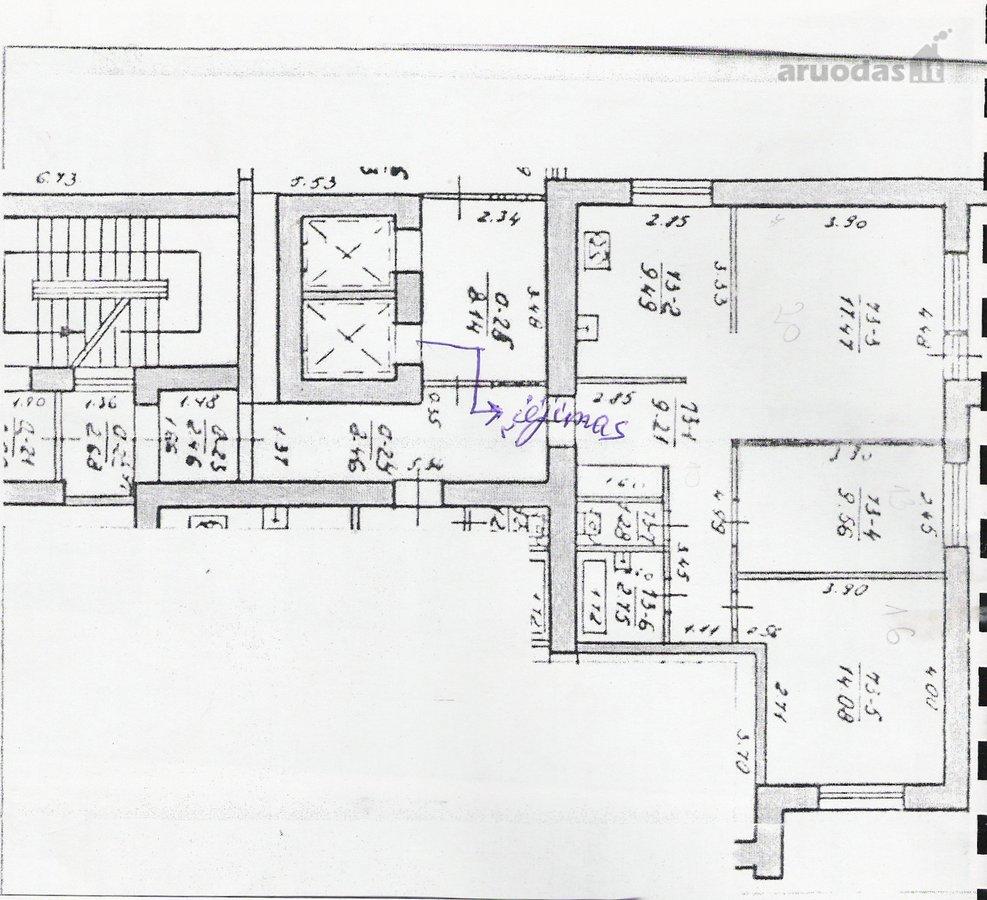 Vilnius, Jeruzalė, Mokyklos g., 3 kambarių butas