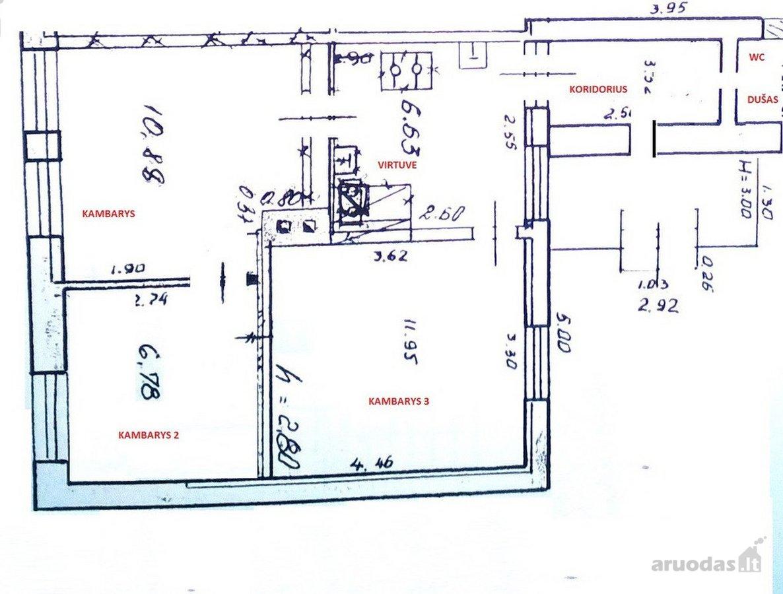 Vilnius, Liepkalnis, Liepkalnio g., 2 kambarių butas