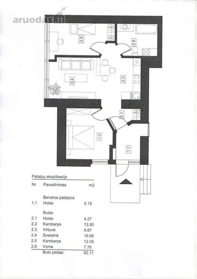 Klaipėda, Mažojo kaimelio, Kretingos g., 3 kambarių butas