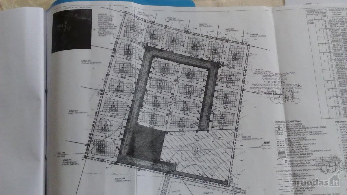 Kauno r. sav., Užliedžių k., Ežero g., namų valdos, daugiabučių statybos paskirties sklypas