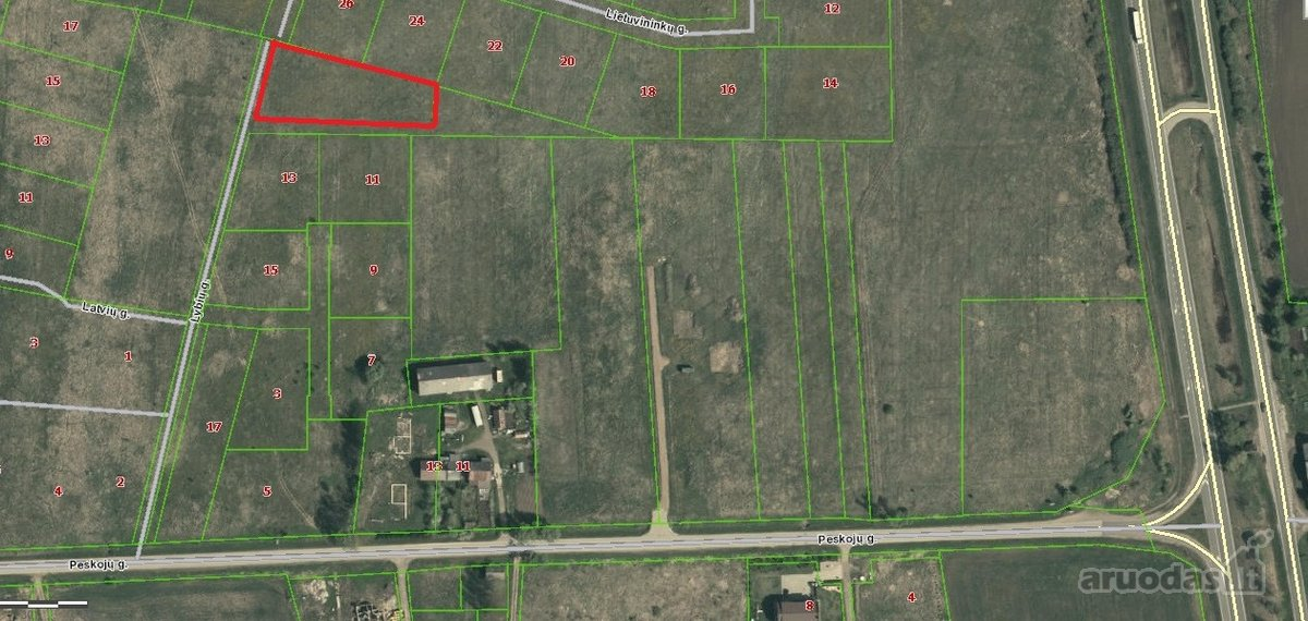 Klaipėdos r. sav., Dargužių k., žemės ūkio paskirties sklypas