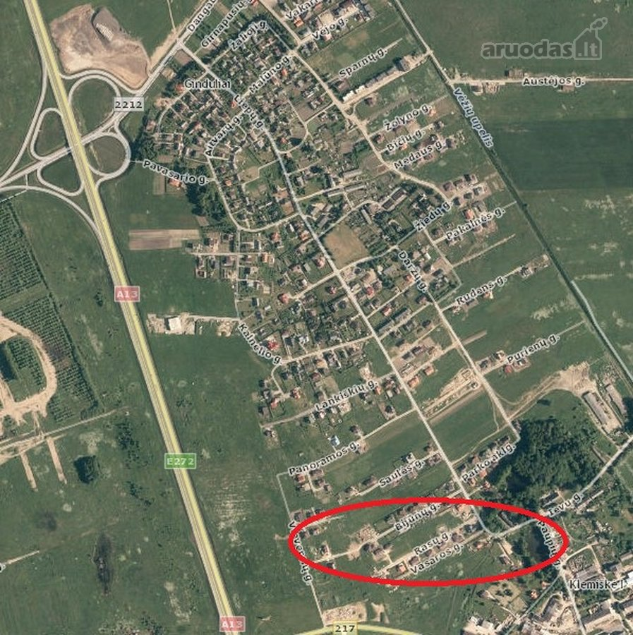 Klaipėdos r. sav., Gindulių k., namų valdos paskirties sklypas
