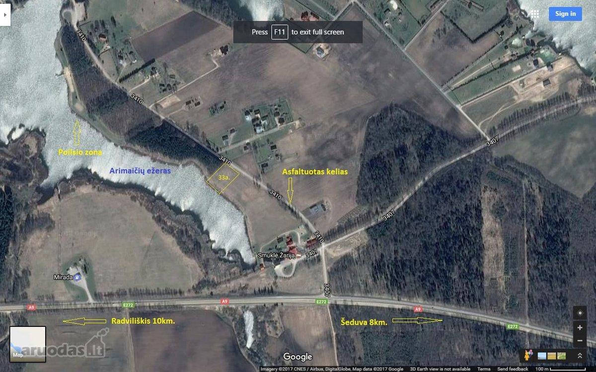 Radviliškio r. sav., Velžių k., Ežero g., rekreacinės paskirties sklypas