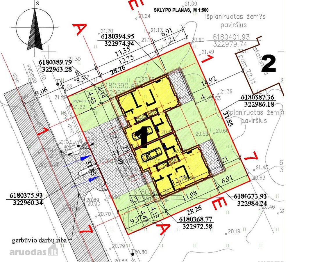 Klaipėda, Paupiai, Dienovidžio g., mūrinis sublokuotas namas