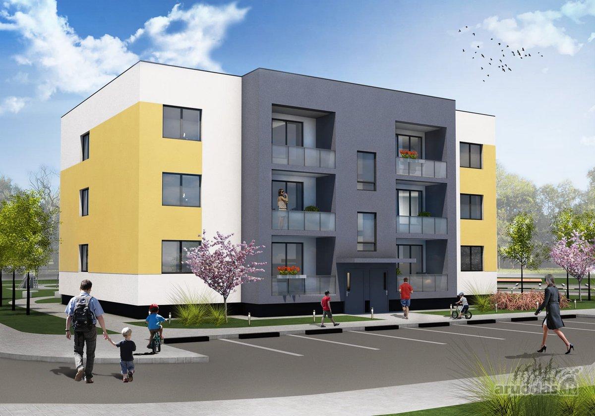 Kretingos m., Pasieniečių g., 2 kambarių butas