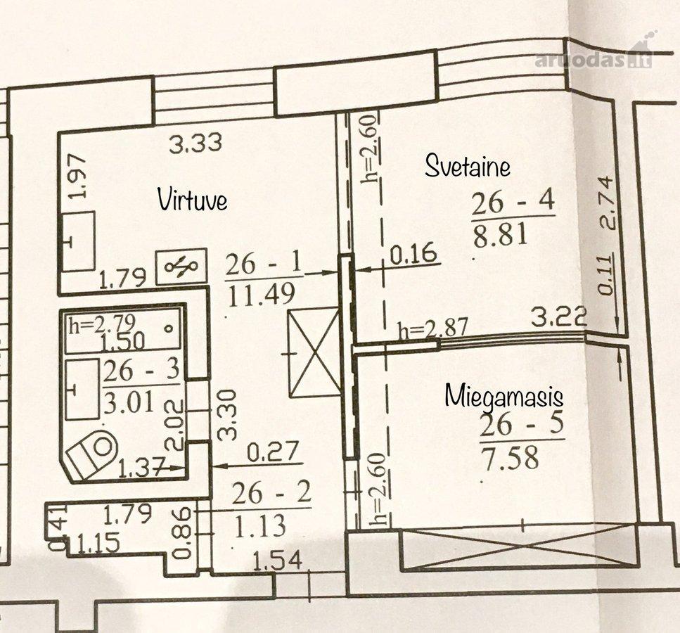 Vilnius, Vilkpėdė, Elektrinės g., 2 kambarių butas