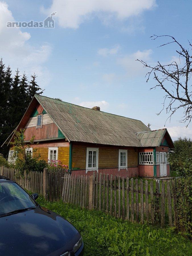 Vilniaus r. sav., Pilkapių k., medinis namas