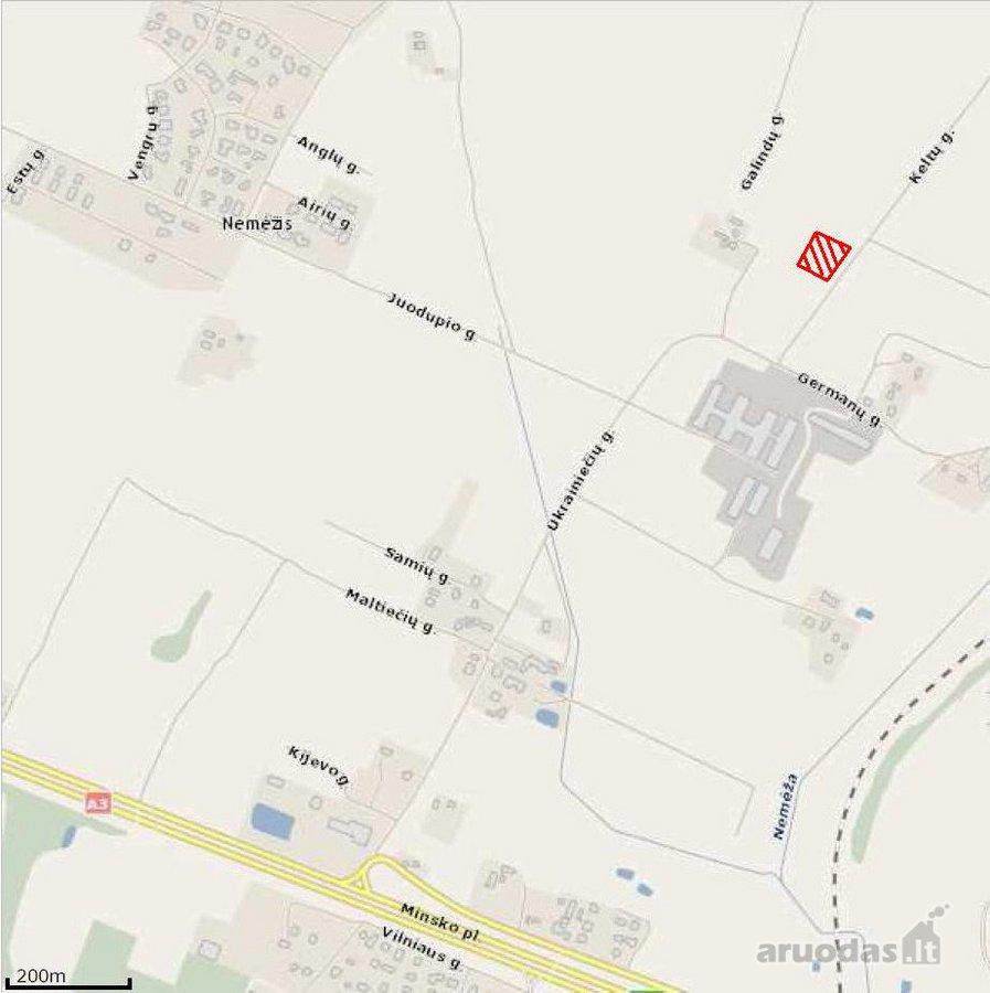 Vilnius, Kalnėnai, Keltų g., namų valdos paskirties sklypas