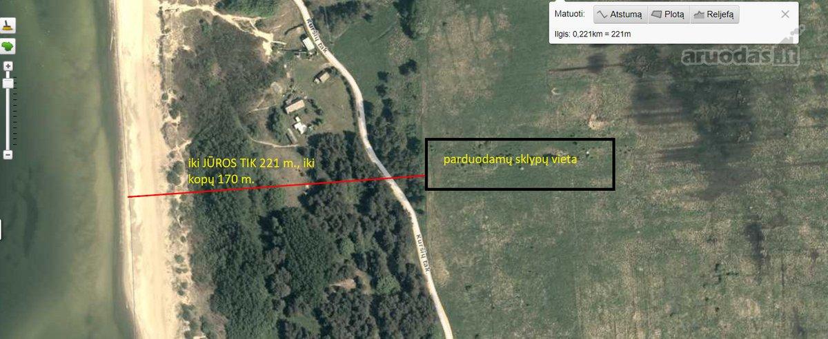 Palanga, Kuršių takas, namų valdos paskirties sklypas