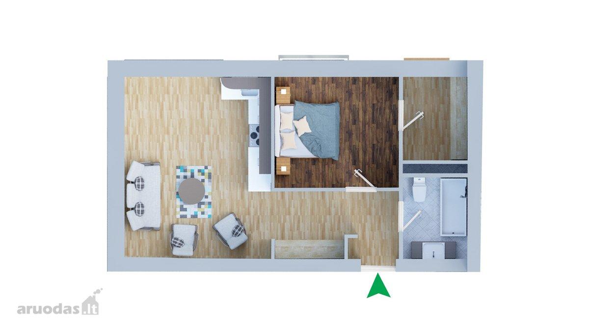 Klaipėda, Senamiestis, Jūros g., 3 kambarių butas