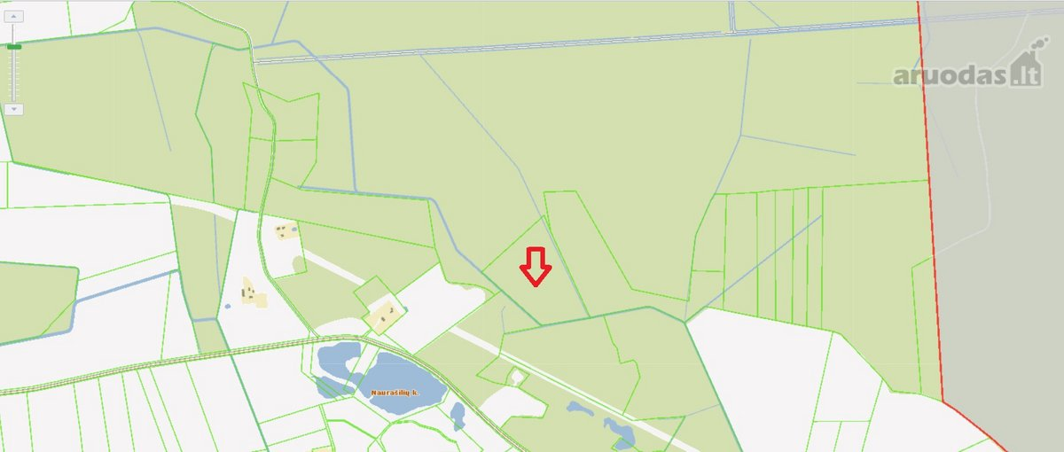 Panevėžio r. sav., Naurašilių k., miškų ūkio paskirties sklypas