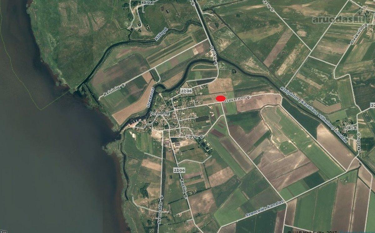 Klaipėdos r. sav., Drevernos k., Drevernos g., žemės ūkio paskirties sklypas
