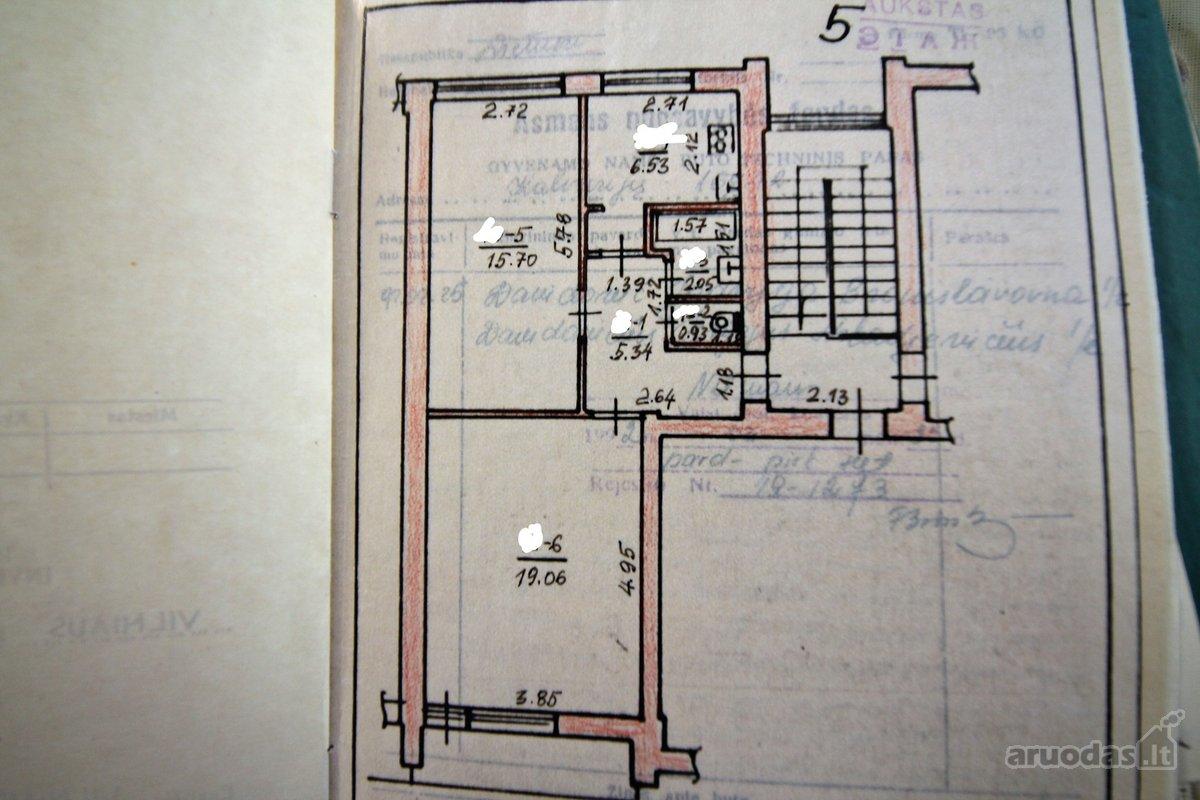 Vilnius, Šnipiškės, Kalvarijų g., 2 kambarių butas