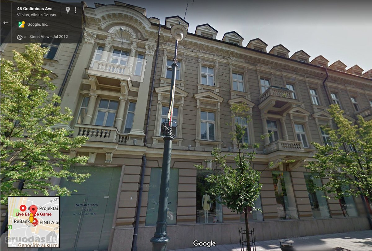 Vilnius, Naujamiestis, Gedimino pr., biuro, paslaugų paskirties patalpos nuomai