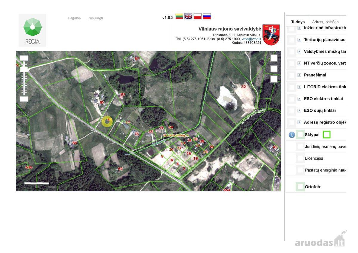 Vilniaus r. sav., Pūstalaukio k., Česlovo Milošo g., namų valdos, žemės ūkio paskirties sklypas