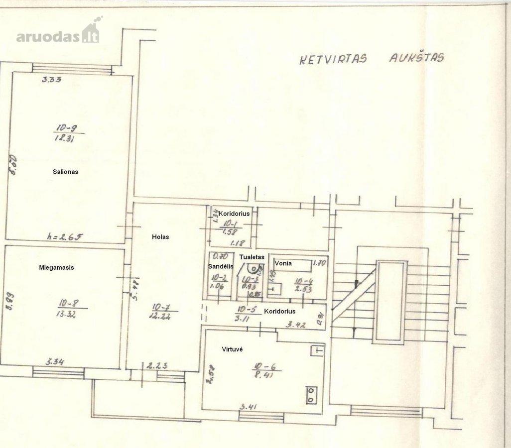 Plungės m., A. Jucio g., 2 kambarių butas