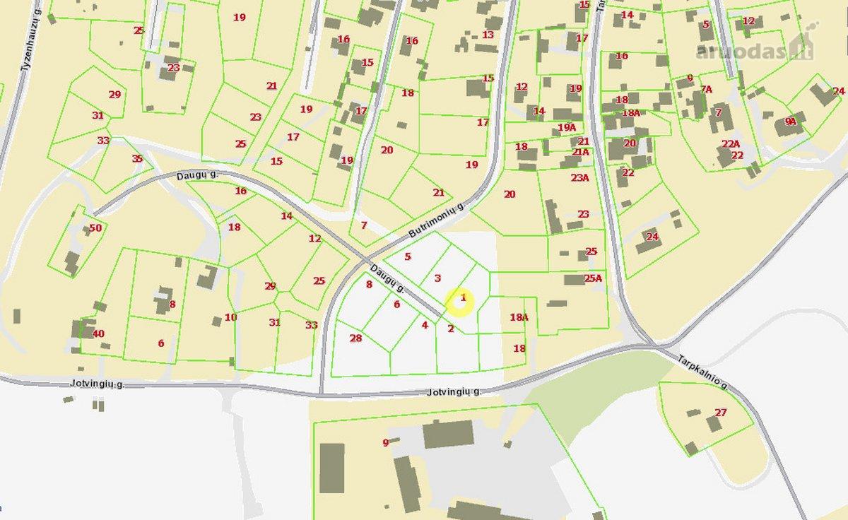 Vilnius, Naujininkai, Daugų g., namų valdos, kitos paskirties sklypas