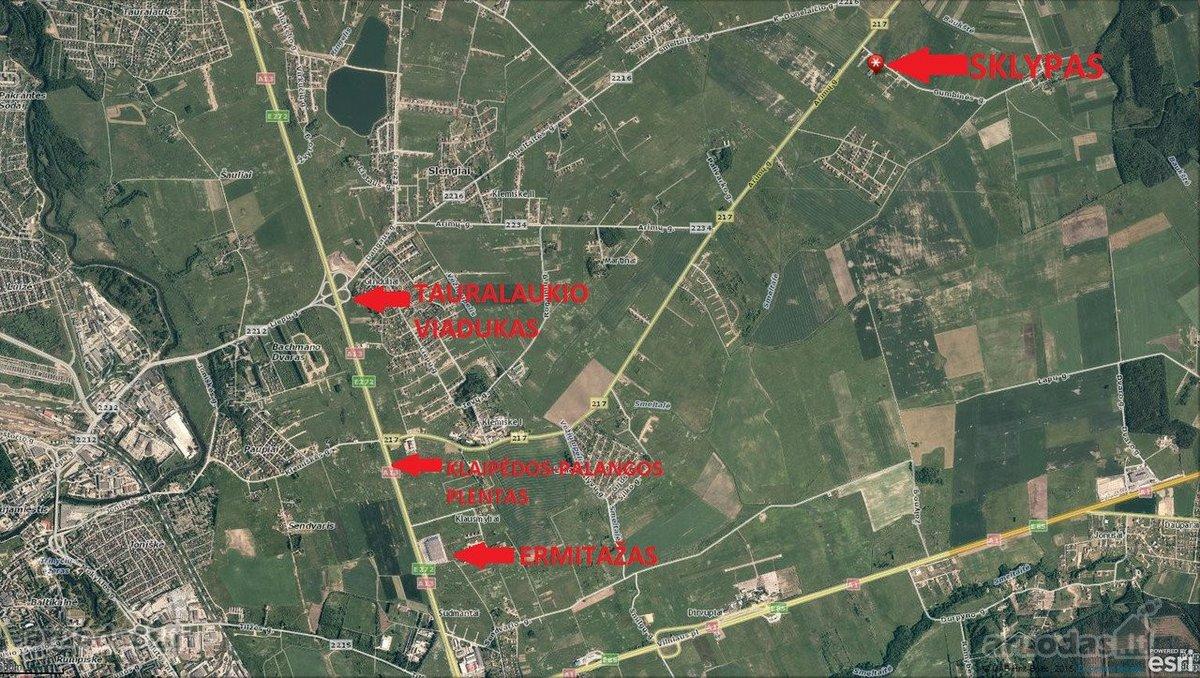 Klaipėdos r. sav., Lelių k., Gumbinės g., namų valdos paskirties sklypas